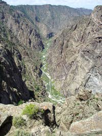 Gunnison at the Bottom of the Canyon