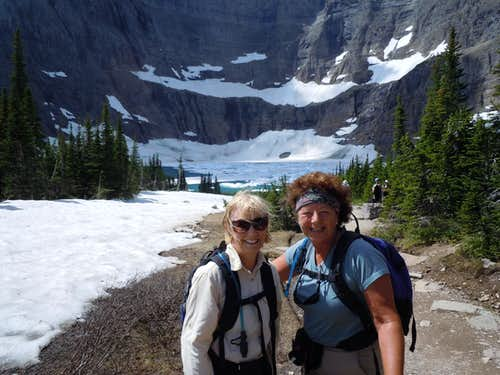 Pat and Terry at Iceberg Lake