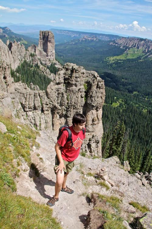 Hiking towards the summit
