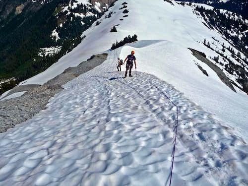 Climbing up the Ridge