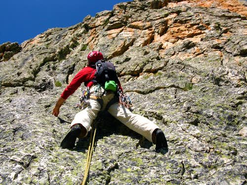 Rocca Castello - Climbing East Face