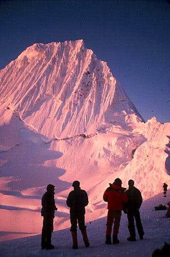 Alpenglow on Alpamayo