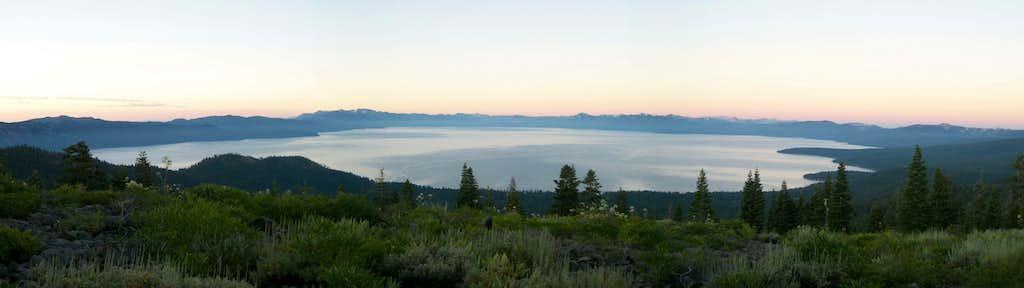 Lake Tahoe Sunrise Panorama