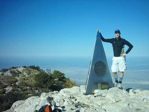 Summit of Guadalupe Peak,...