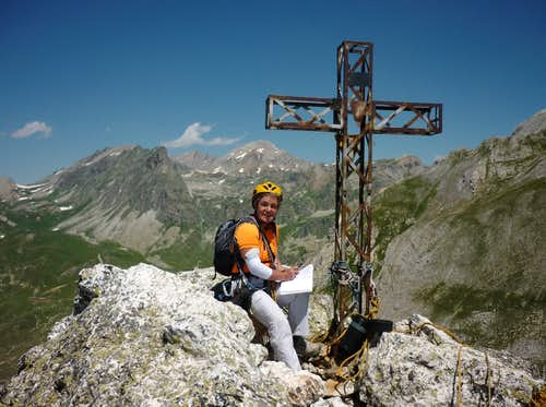 Rocca Castello summit cross