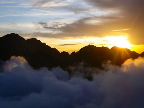 Sunset over Negoiu