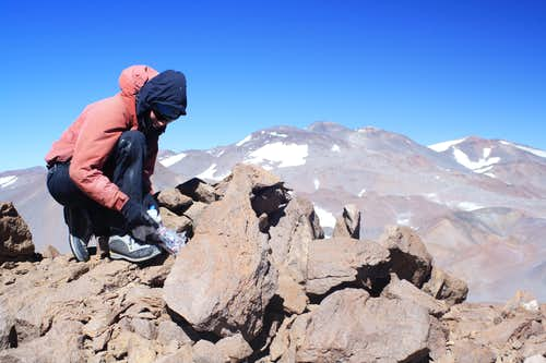 On the summit of Volcan del Viento