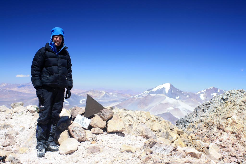 On the Argentine summit of Ojos del Salado