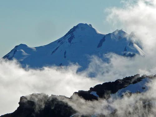 Glacier Peak with Clouds
