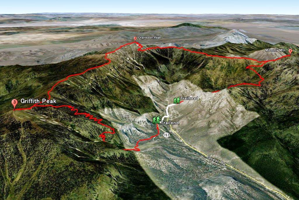 3D of 3 Peaks in One Day