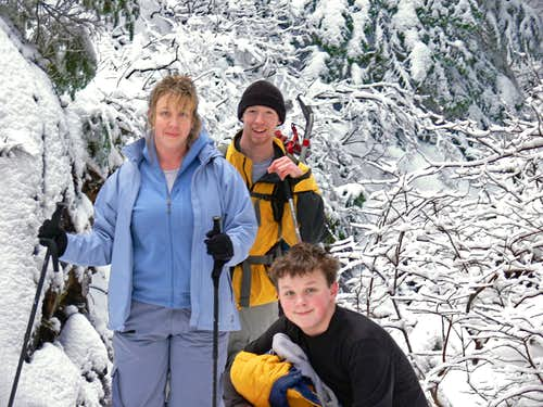 My Family in Winter on Mount Pilchuck
