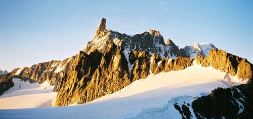 Dent du Géant and Rochefort Ridge from Tour Ronde