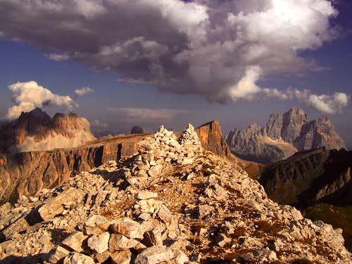 Ra Gusela - on the summit