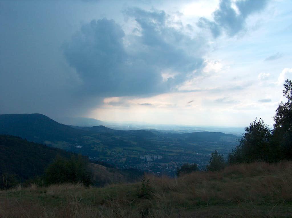 Czantoria  from Równica, under the storm