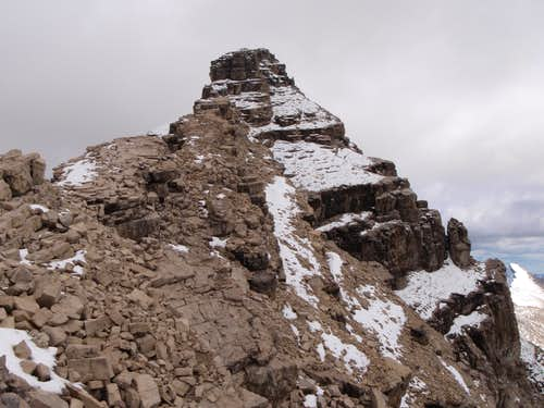 Nearing Notch before Main Summit - Recondite Peak