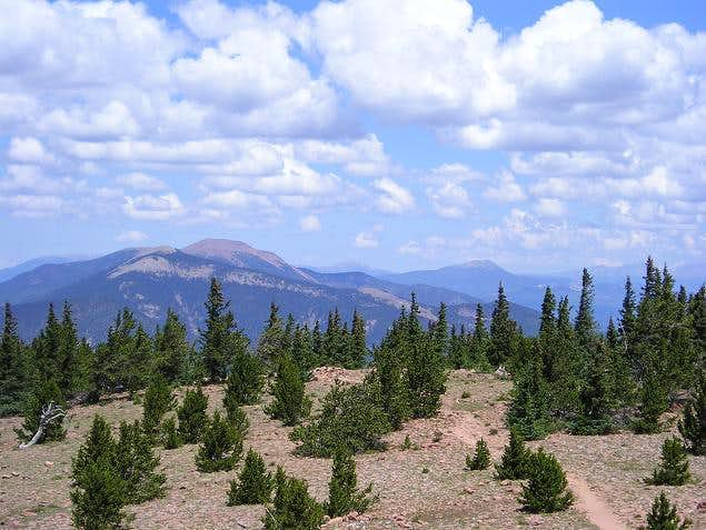 Baldy mountain seen from...