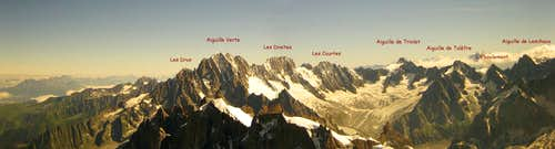 Panoramic View of Aiguille Verte and Aiguille de Triolet