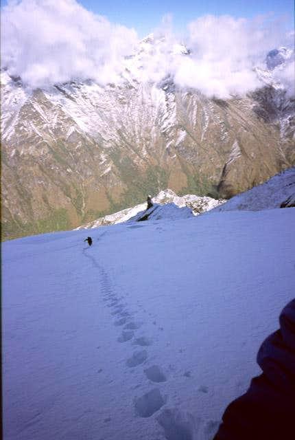 Banji Glacier just above C2....