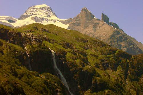 Tschingelhorn with Schmadribach Falls