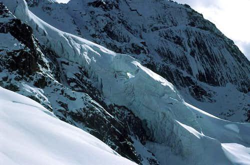 Glacier bridge on Banji with...