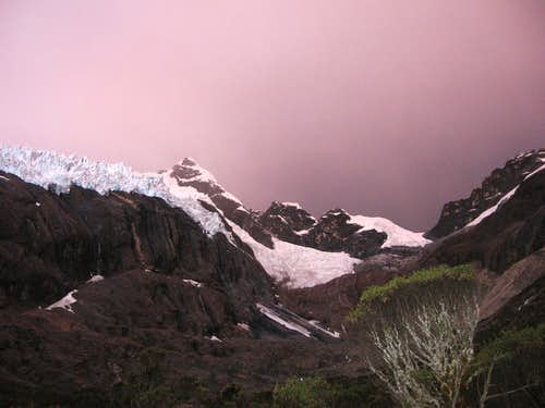 Maparaju - A stormy sunset at Base Camp