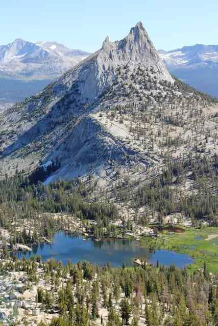 Cathedral Peak and Cathedral Lakes