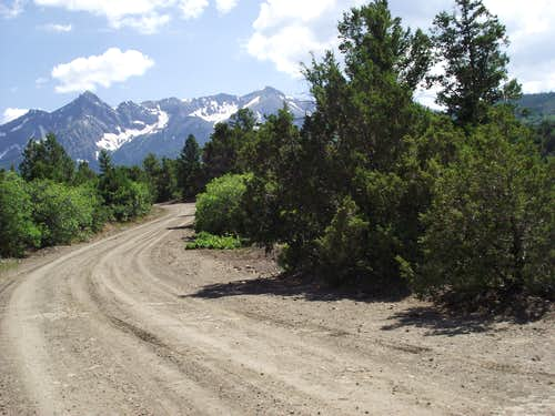 Road to the Sneffels Range