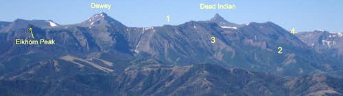 "Mount Dewey, Dead Indian Peak, and ""Gravelbar Ridge"""