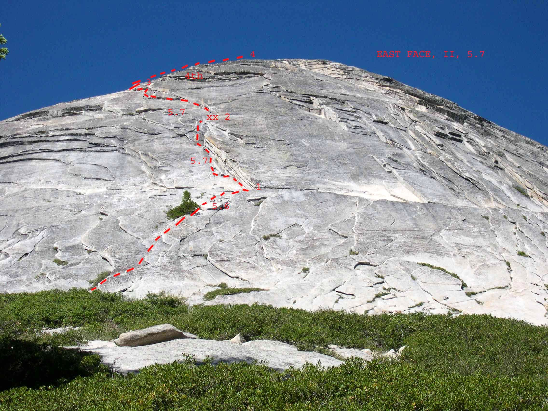 Mount Starr King, East Face, II, 5.7