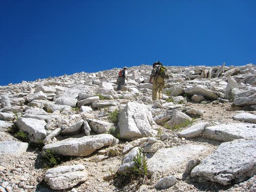 Ascending the West Face of Mt Starr