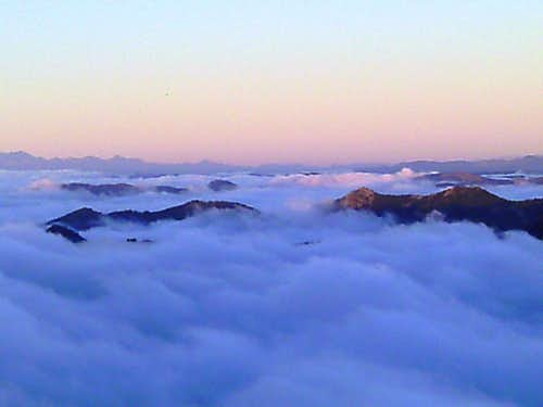 View above the Fog