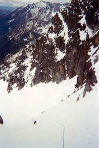 Descending Sherpa Glacier...