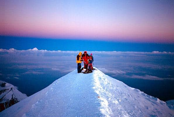 On the summit at dawn