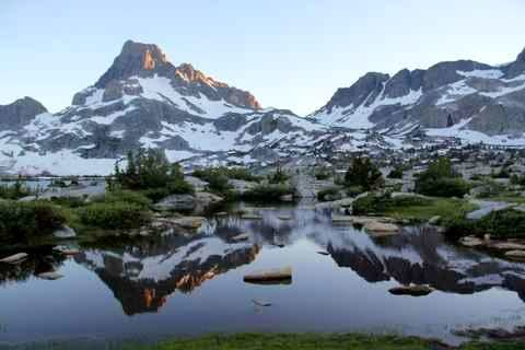 Banner Peak and Thousand Island Lake 2