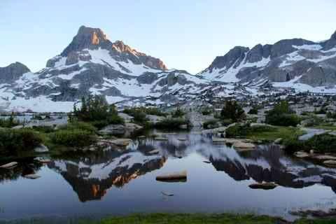 Banner Peak and Thousand Island Lake 2