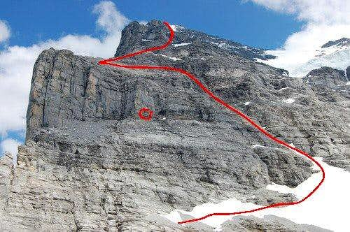 Route line on Marks picture