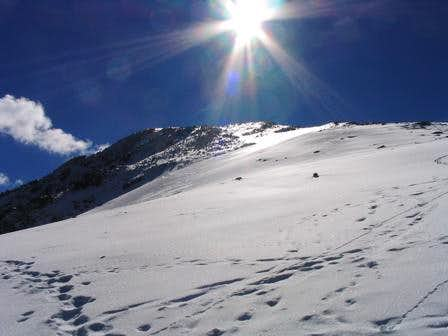 Looking up towards the summit...