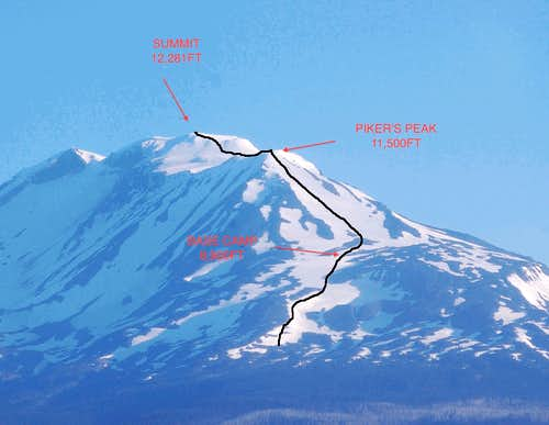 Mt Adams South Spur Route