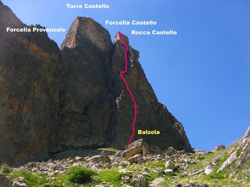 Rocca Castello East Face