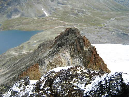 Visbretind North ridge