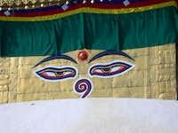 swayambhunath, eyes