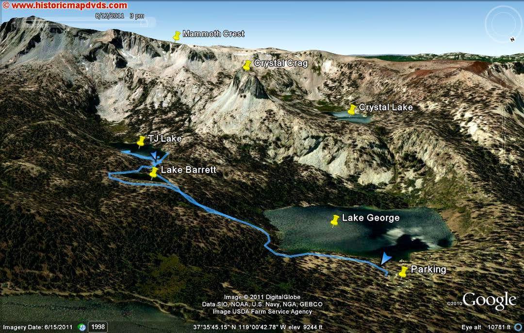 lake george to barrett and tj lake climbing hiking