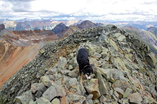 Summit of Vermilion Peak