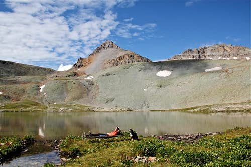 Fuller Peak and Lake