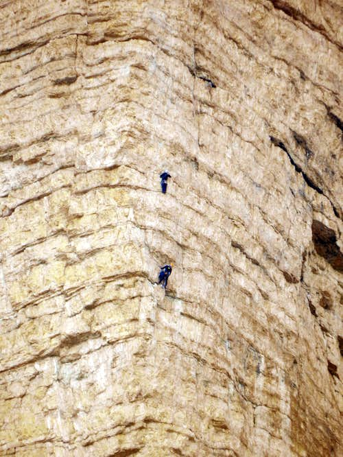Climbers on the Cima Ovest