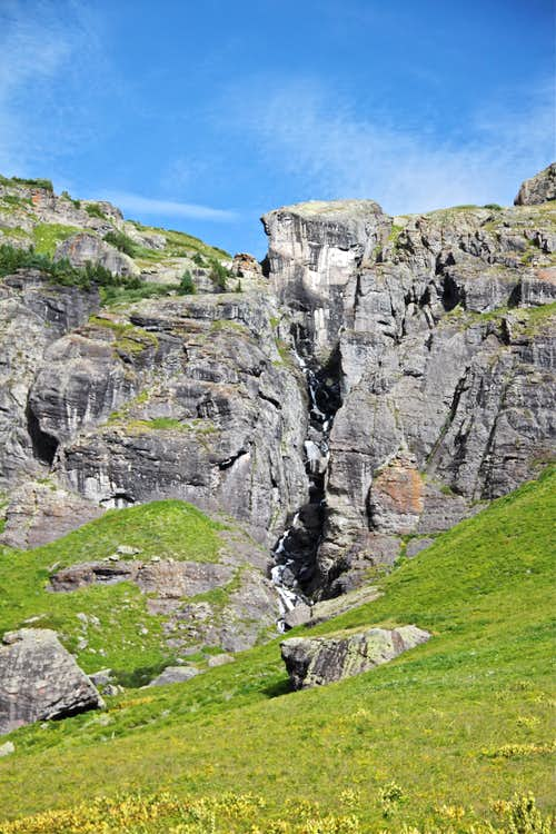 Waterfall in the Lower Ice Lake Basin