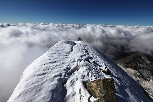 Svanetia below - picture from the Shkhara Summit