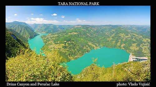 Drina Canyon and Perućac Lake