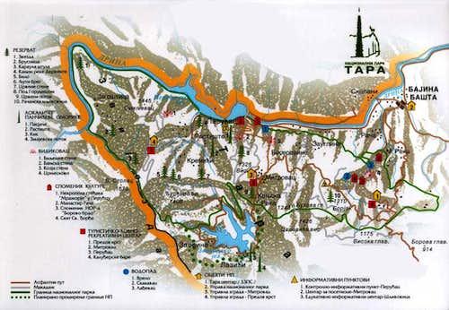 Map of Tara National Park