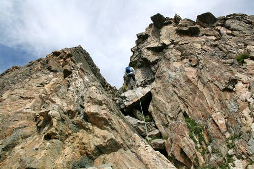 Steep Gully on West ridge